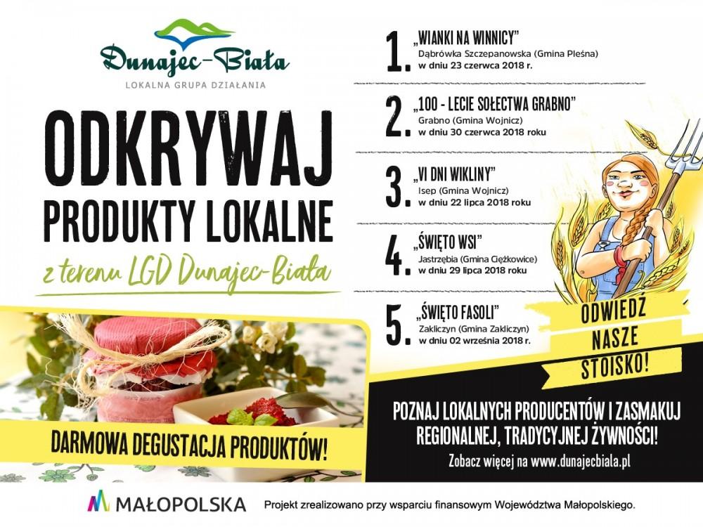 Dni Wikliny Isep 2018 i Promocja tradycji i dziedzictwa kulinarnego obszaru Lokalnej Grupy Działania Dunajec-Biała